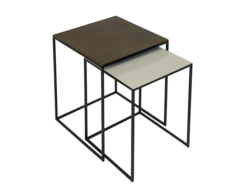 Fera Duo of Square Side Tables