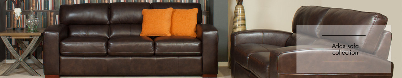 Atlas Leather sofa collection at Forrest Furnishing