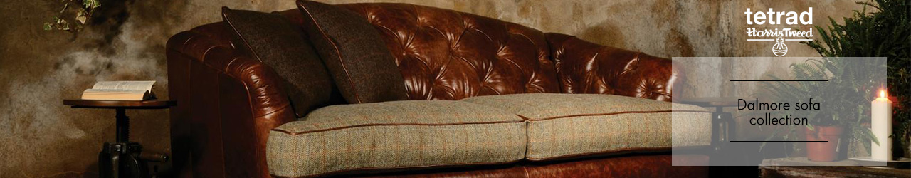 Dalmore sofa Collection by Tetrad and Harris Tweed