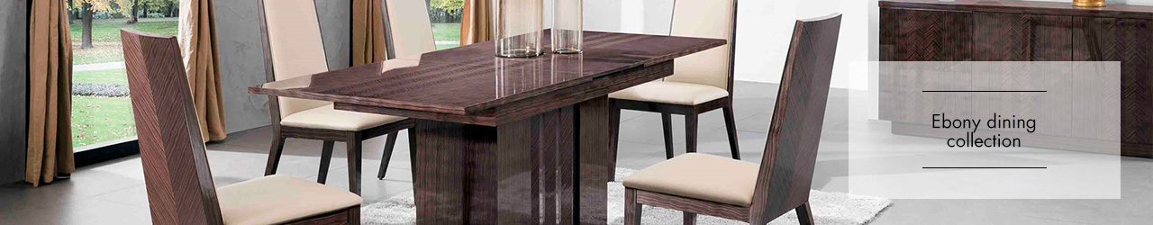 Ebony Dining collection at Forrest Furnishing