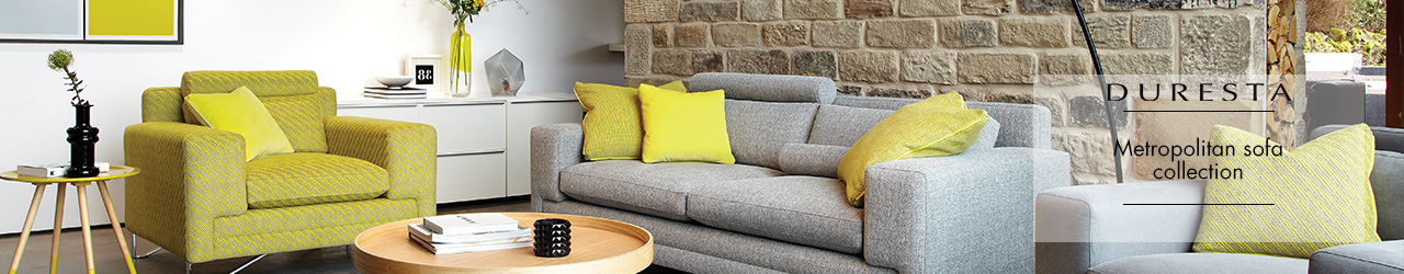 Metropolitan Fabric Sofa Collection by Domus from Duresta at Forrest Furnishing