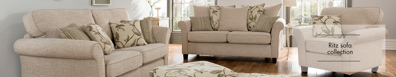 Ritz faberic sofa colelction at Forrest Furnishing