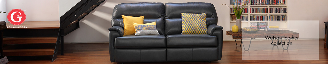 Watson Leather Sofa Collection by G Plan Upholstery at Forrest Furnishing