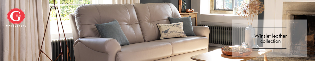 Winslet Leather Sofa Collection by G Plan Upholstery at Forrest Furnishing