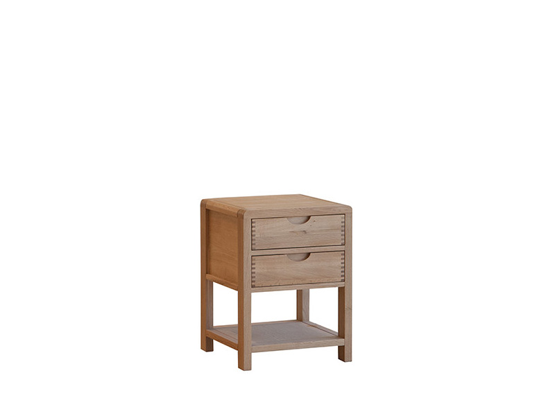 Bosco 2 Drawer Bedside Cabinet
