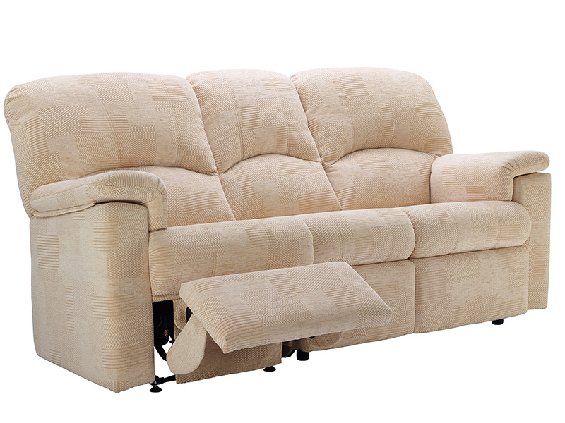 Chloe Fabric 3 Seat Powered Double Reclining Sofa