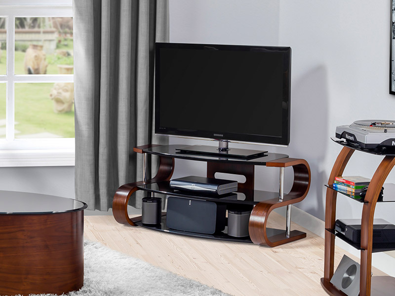 Contour 850 TV Stand in Walnut