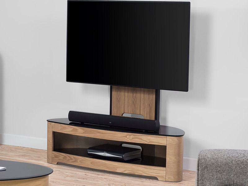 Contour Cantilever TV Stand in Oak
