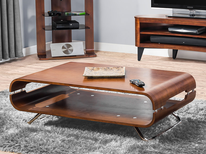 Contour Coffee Table In Walnut