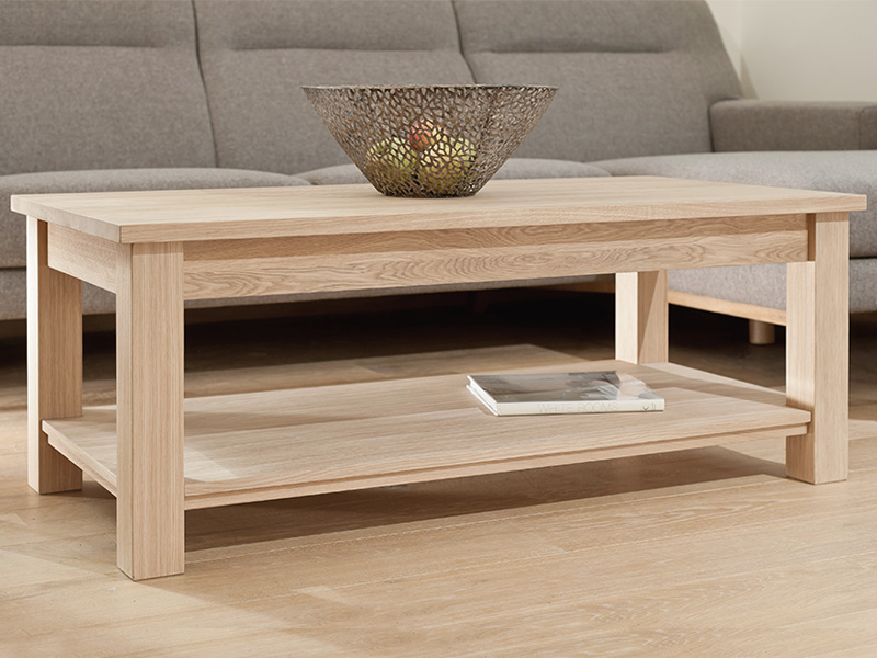 Quercia Large Coffee Table with Shelf