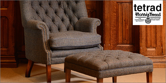Chairs and Stools By Tetrad and Harris Tweed