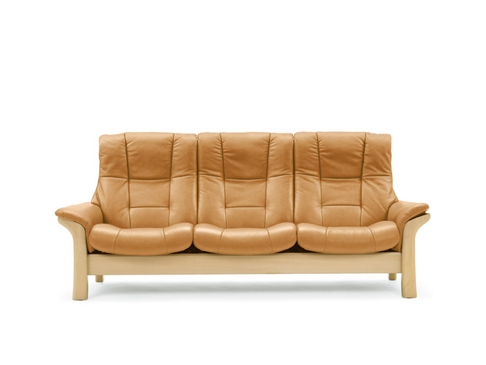 Buckingham 3 Seater Sofa High Back in Noblesse Leather