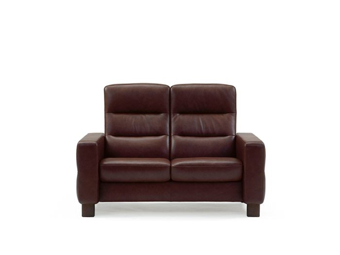 Wave 2 Seater High Back Sofa in Batick Leather