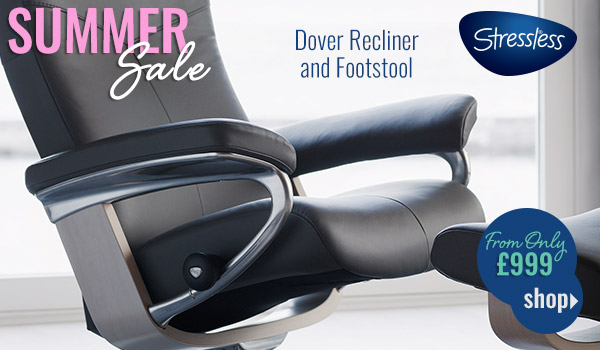 Stressless Dover recliner and footstool from on £999 whilst stocks last
