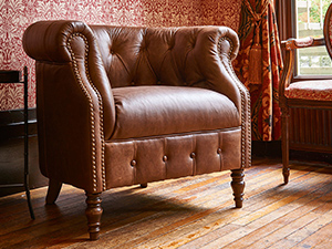 Jude Leather Accent Chair