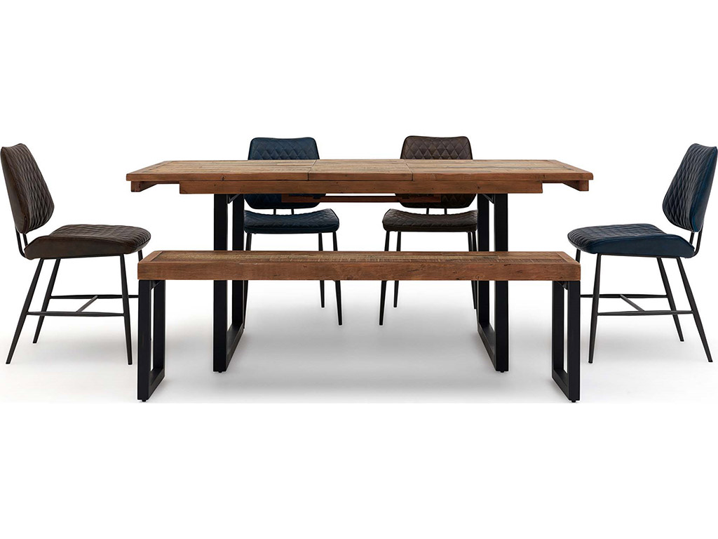 Jaipur Extending Dining Table Bench and 4 Chairs