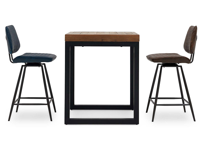 Jaipur Square Bar Table and 2 Starley Bar Chairs