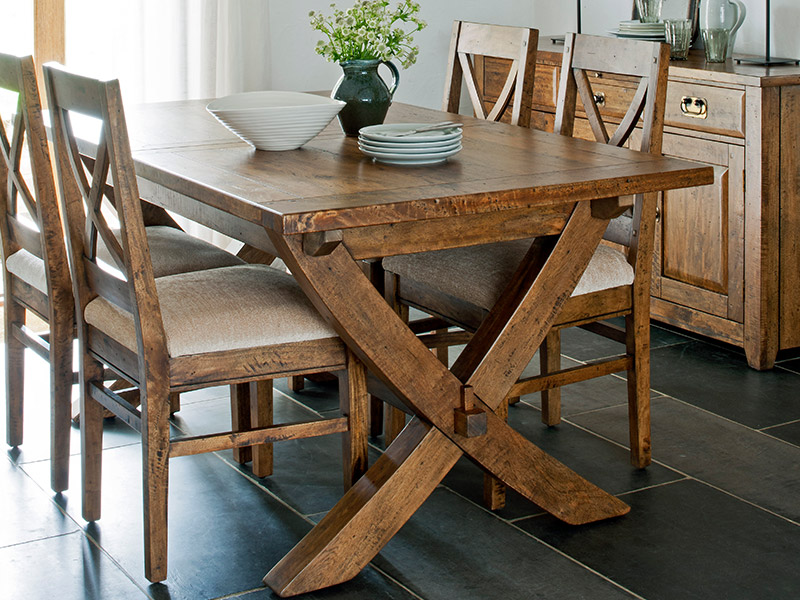 Java Dining Table and 6 Chairs