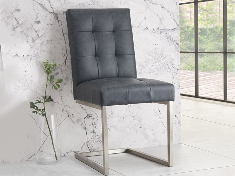 Tivoli Chair Black Faux Leather