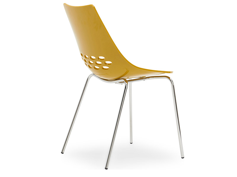 Jam White Glossy Mustard Chair