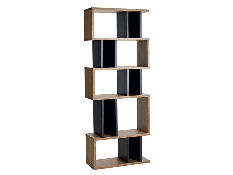 Counter Balance Alcove Shelving in Oak and Charcoal