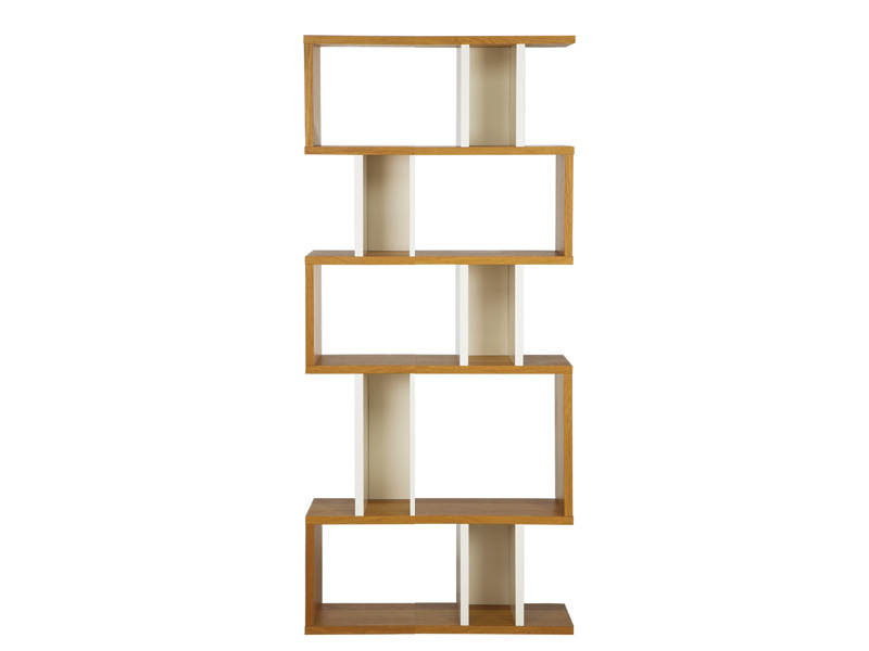 Counter Balance Alcove Shelving in Oak and White