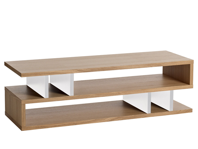 Counter Balance Coffee Table in Oak and White
