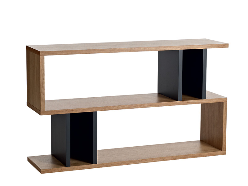 Counter Balance Console Table in Oak and Charcoal