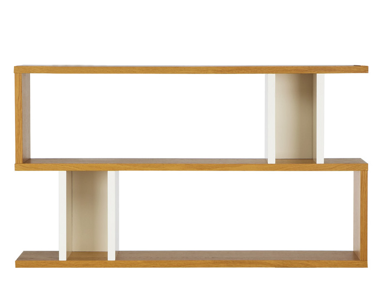 Counter Balance Console Table in Oak and White