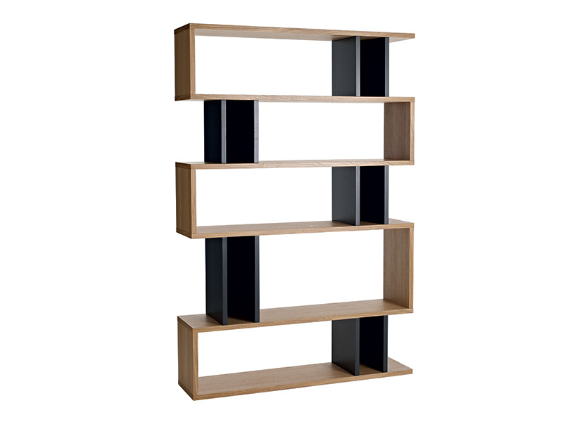 Counter Balance Tall Shelving in Oak and Charcoal
