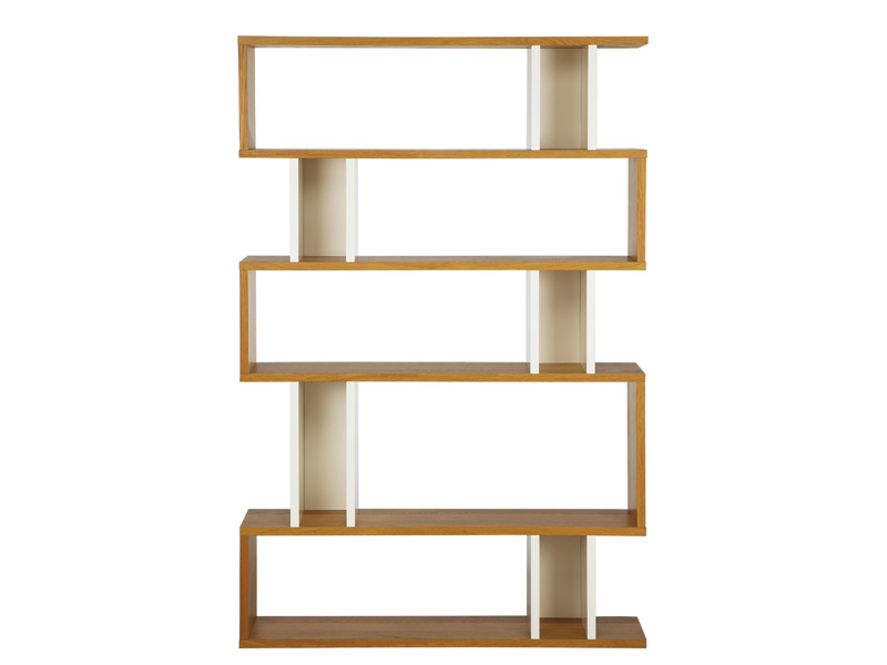 Counter Balance Tall Shelving in Oak and White