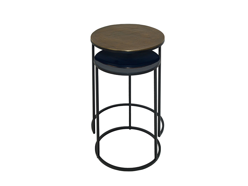 Fera Duo of Round Side Tables