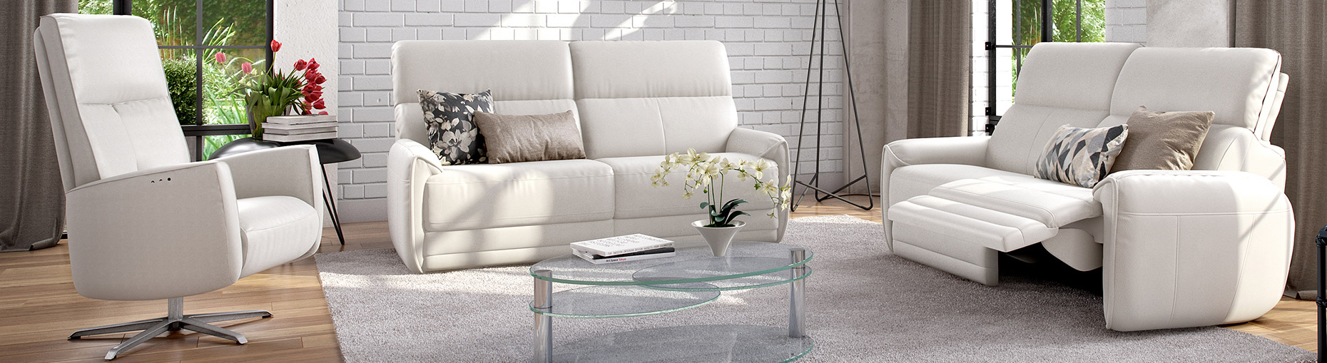 Bellvue sofa collection by ROM at Forrest Furnishing