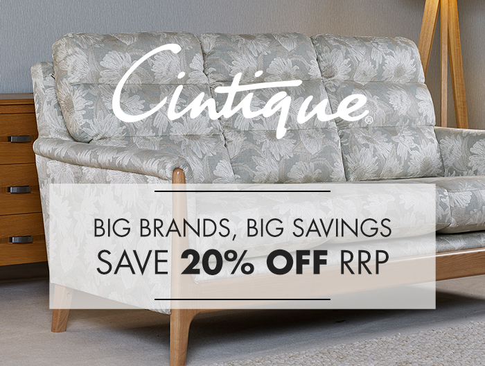 Cintique Upholstery Sofa collections at Forrest Furnishing and save 20% off rrp