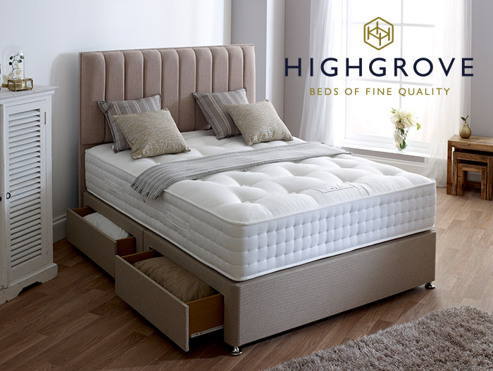 Grange Ortho Natural Divan collection by Highgrove beds at Forrest Furnishing