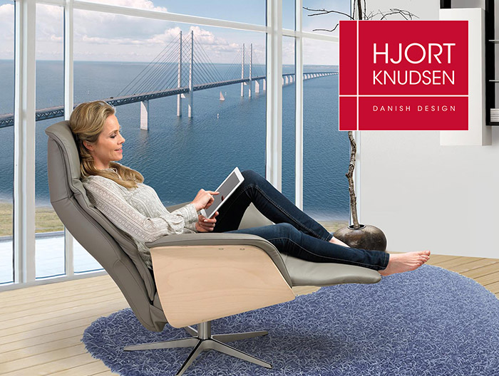 Hjort Knudson sofa and recliner collections at Forrest Furnishing
