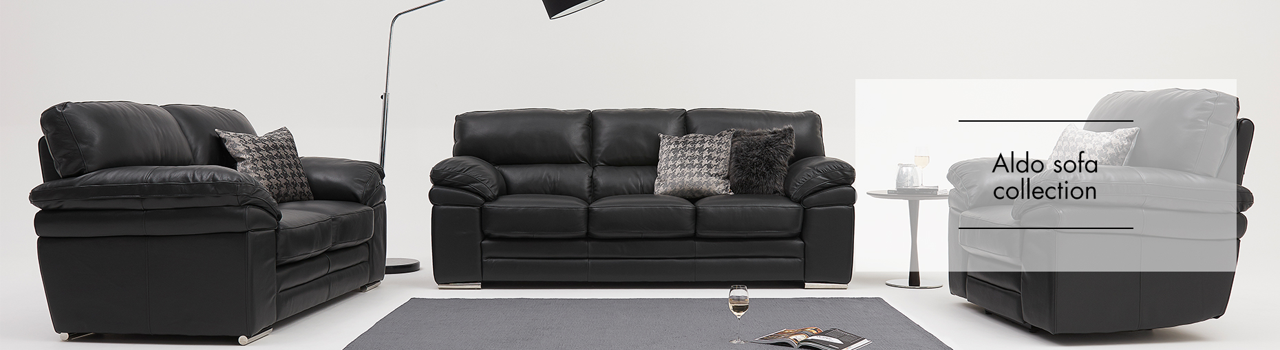 Aldo Leather Sofa Collection