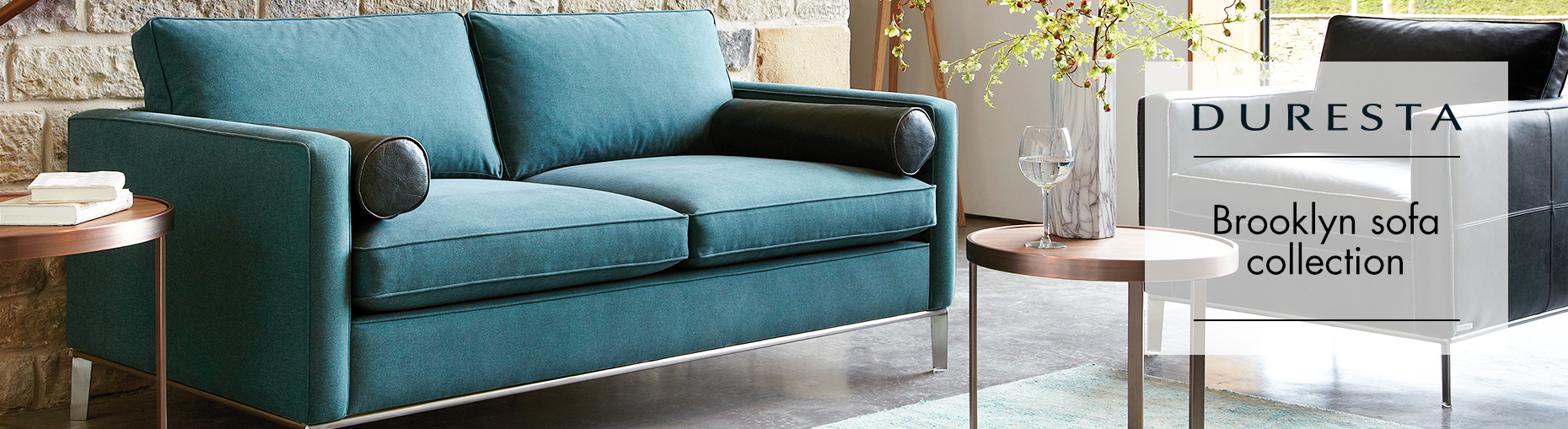 Brooklyn Fabric Sofa Collection by Domus from Duresta at Forrest Furnishing