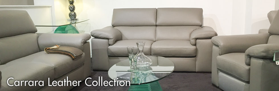 Carrara leather sofa collection