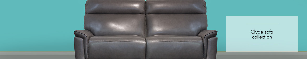 Clyde Leather sofa collection at Forrest Furnishing