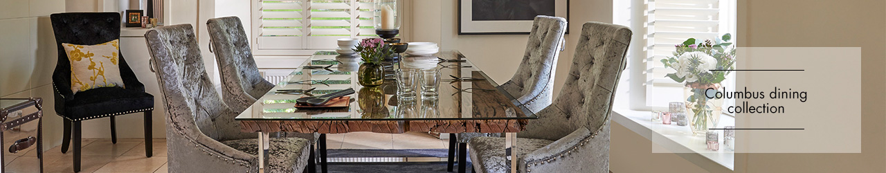 Columbus dining collection at Forrest Furnishing