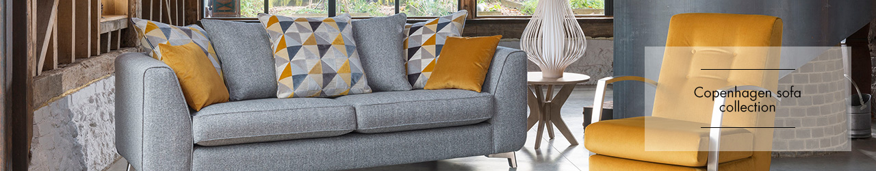 Copenhagen Fabric Sofa collection by Alstons Upholstery at Forrest Furnishing