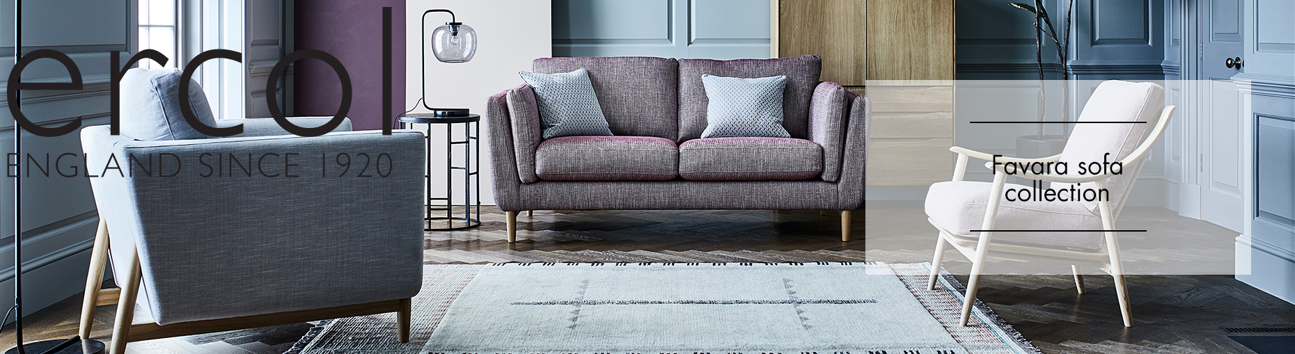 Favara sofa collection by ercol at Forrest Furnishing