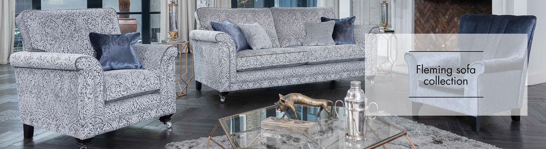 Fleming Sofa collection by Alstons Upholstery at Forrest Furnishing