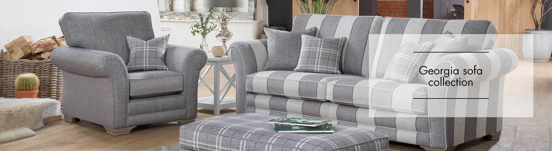 Alstons Georgia Sofa Collection at Forrest Furnishing