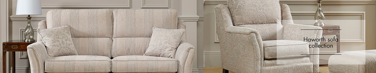 Haworth sofa collection at Forrest Furnishing