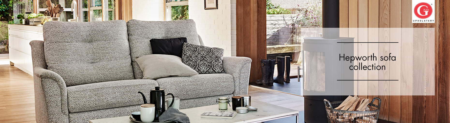 Hepworth fabric sofa collecion from G Plan Upholstery at Forrest Furnishing