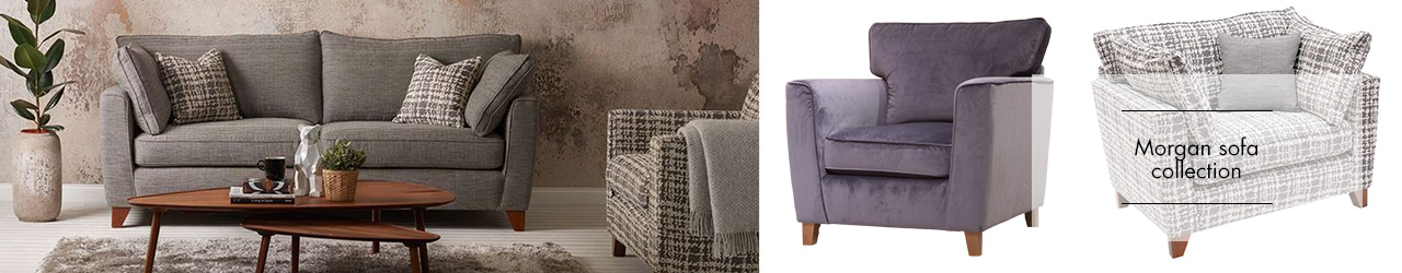 Morgan Fabric sofa collection at Forrest Furnishing