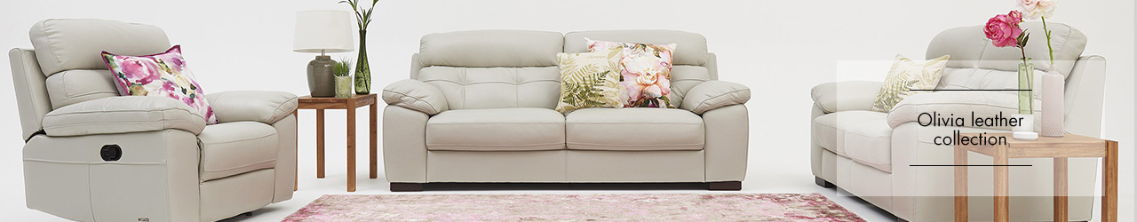 Olivia Leather Sofa Collection at Forrest Furnishing