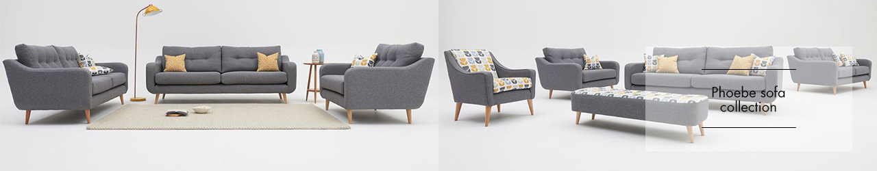 Phoebe sofa collection at Forrest Furnishing